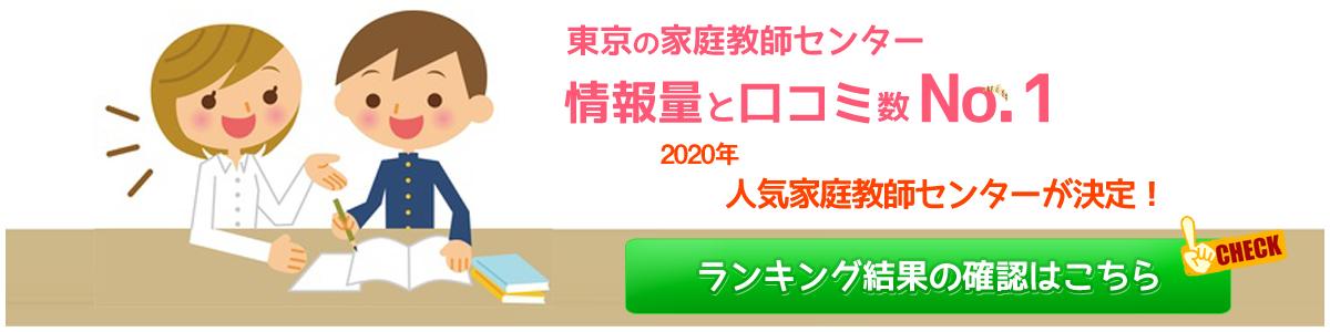 東京の家庭教師センター情報量と口コミ数No.1